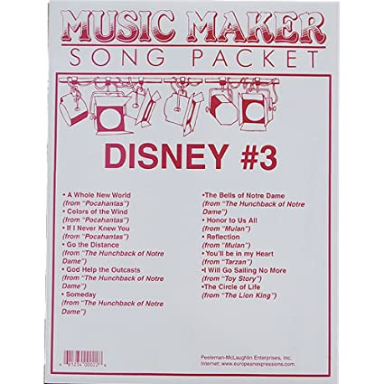 Amazon disney 3 songsheet packet for the music maker toys games disney 3 songsheet packet for the music maker stopboris Gallery