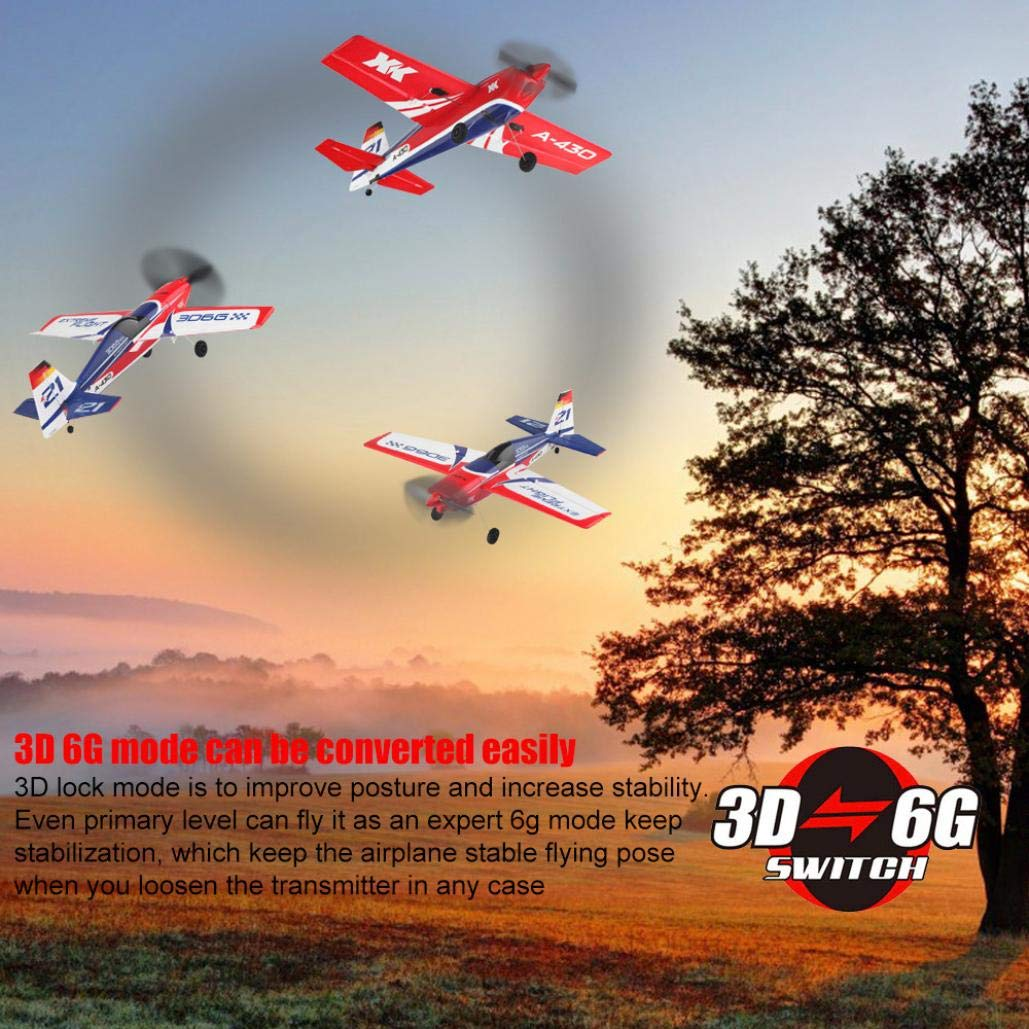 Jeeke RC Airplane Brushless Motor RC Glider XK A430 2.4G 5CH 3D6G System Compatible with FUTABA S-FHSS (White, 43×40×11.3cm/16.9×15.7×4.4in)-Shipping from USA by Jeeke (Image #2)