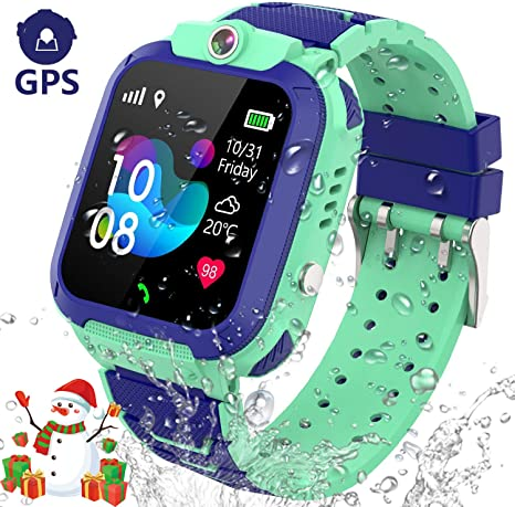 MUXAN GPS Smart Watch for Kids,Waterproof Kids Smartwatch with SOS Anti-Lost Alarm Two Way Call,Kids GPS Smart Watches Boys Girls HD Camera Support ...