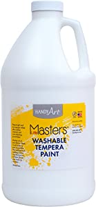 Handy Art Little Masters Washable Tempera Paint, Half Gallon, White