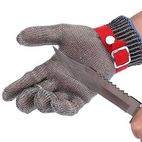 Amazon.com: BINYEAE Guantes de acero inoxidable resistentes ...