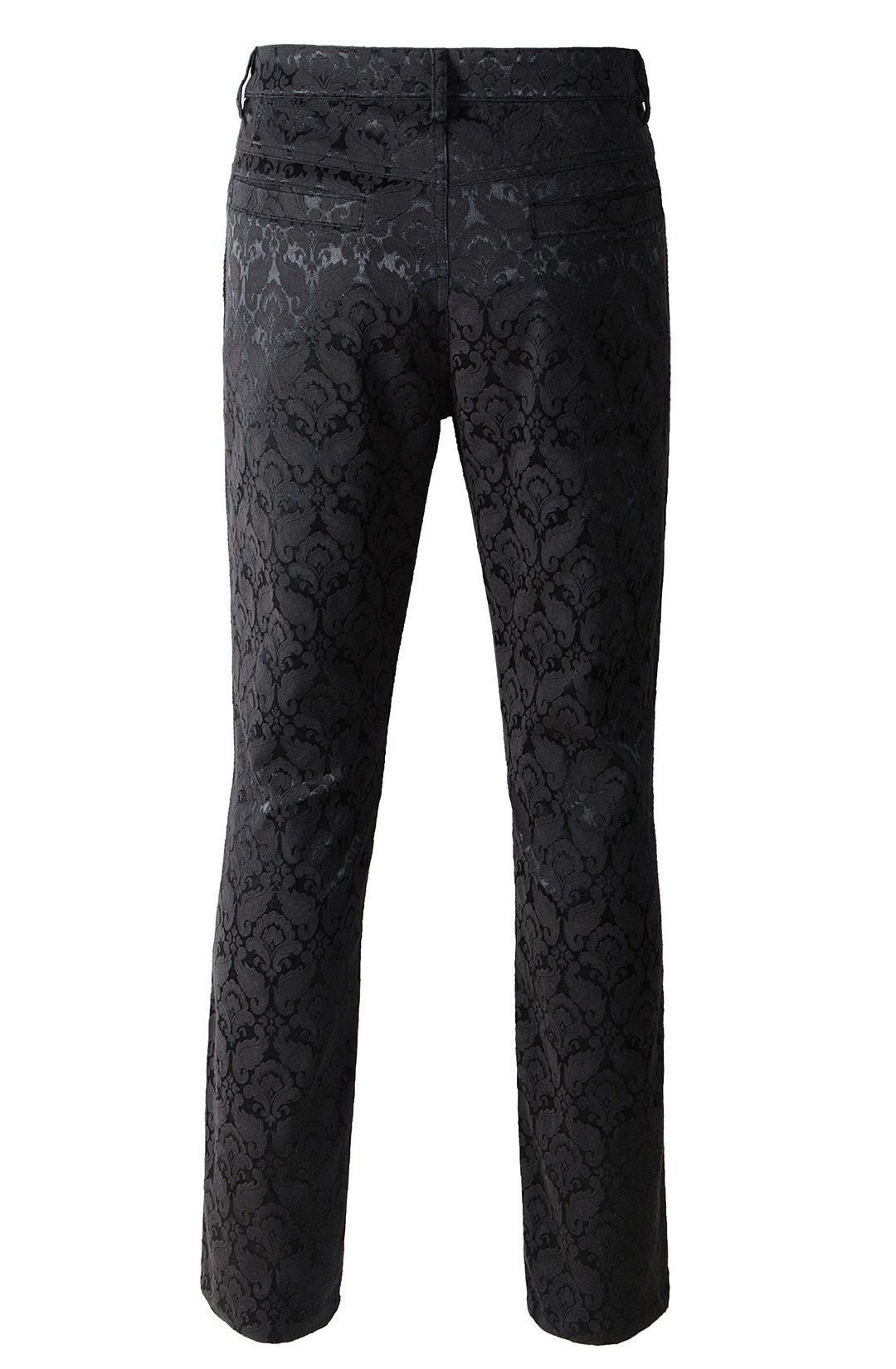 DarcChic Mens Trousers Pants Brocade VTG Gothic Aristocrat Steampunk Side Braiding Trim 5
