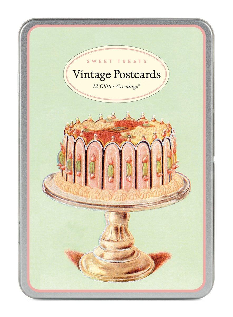 Cavallini Sweet Treat Glitter Greetings, 12-Assorted Postcards Cavallini & Co. GG/SWT