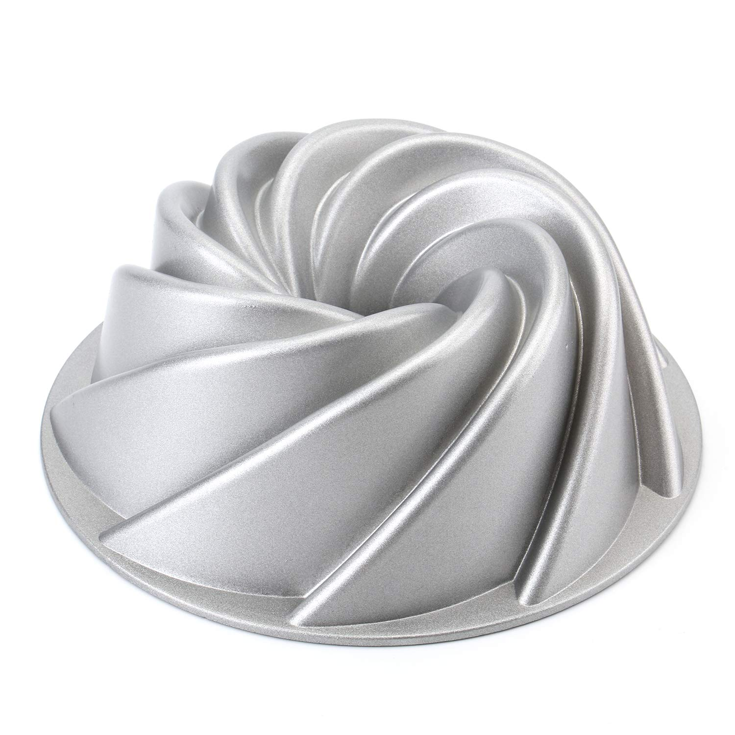Tosnail 9-Inch Non-Stick Fluted Cake Pan Bundt Cake Pan Specialty and Novelty Cake Pan