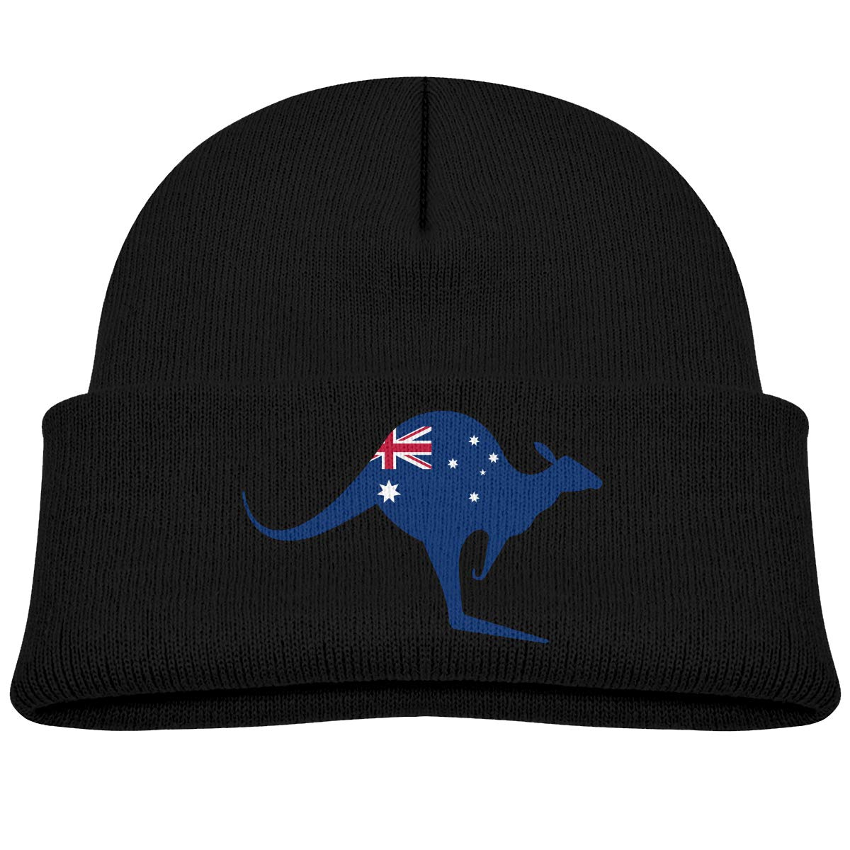 b00cb43a3bcc10 Amazon.com: Australian Flag Kangaroo Kids Beanie Hat Classic Winter Hats  Skull Cap Knitted Hat: Clothing