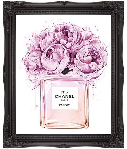 594ed860497 Chanel Coco Perfume Art Wall art perfume art A4 art A3 art (30 x 21)  Amazon .co.uk  Kitchen   Home