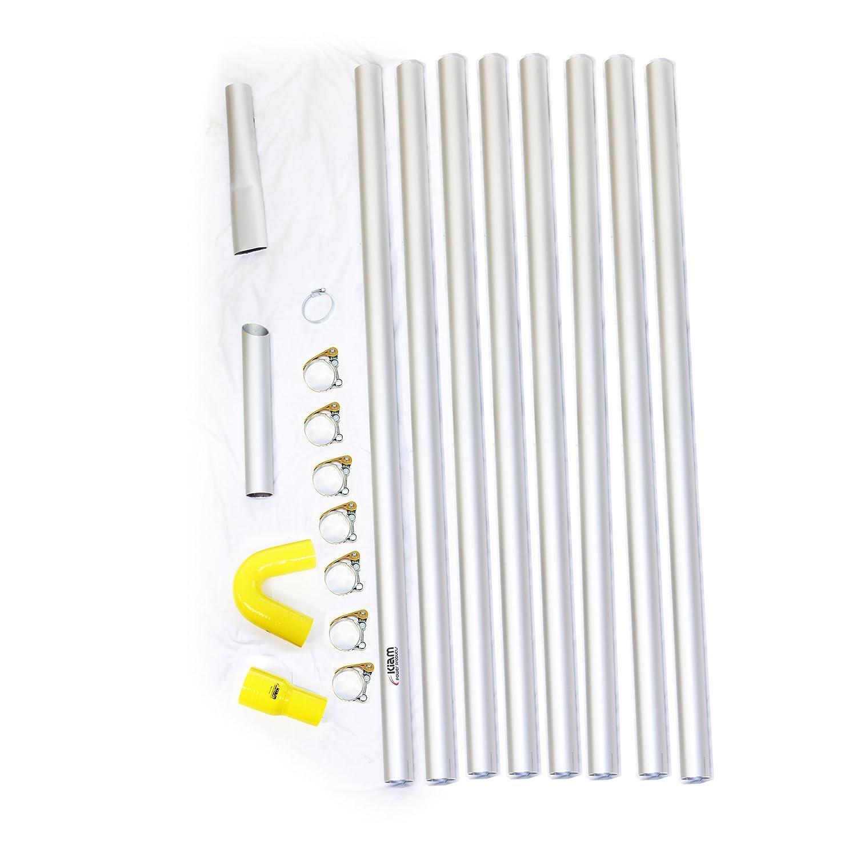 32ft 9,6m Long Reach Gosse Vakuum Pole Kit Set Ablauf Hoover Reinigung System