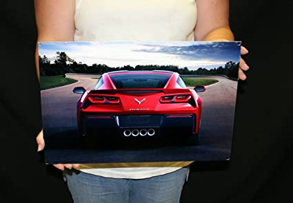 West Coast Corvette >> Amazon Com West Coast Corvette C7 Corvette Rear Red Coupe Metal