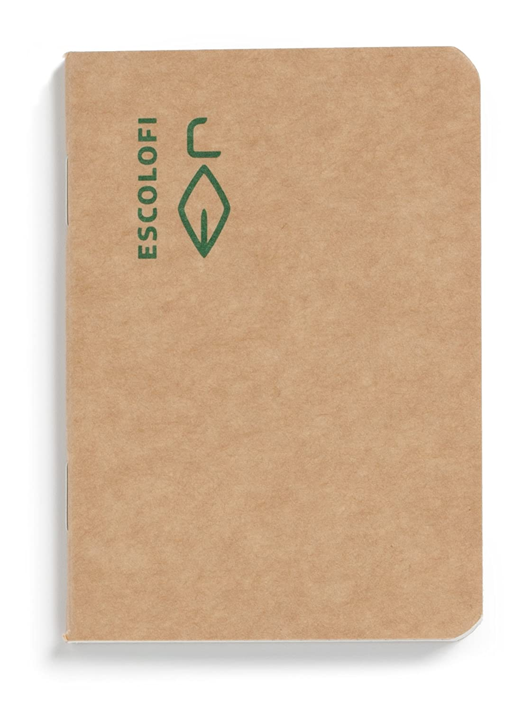 escolofi 130027300–Quaderno in carta riciclata, ecologico A7