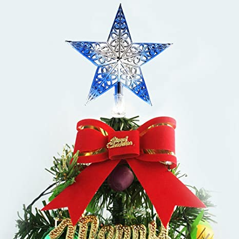 tinksky hollowed out christmas tree top sparkle star glittering hanging xmas tree topper decoration ornaments home