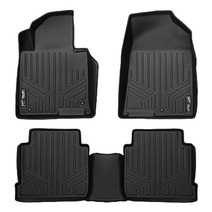 SMARTLINER Floor Mats 2 Row Liner Set Black For 2015 2018 Hyundai Sonata  (Non