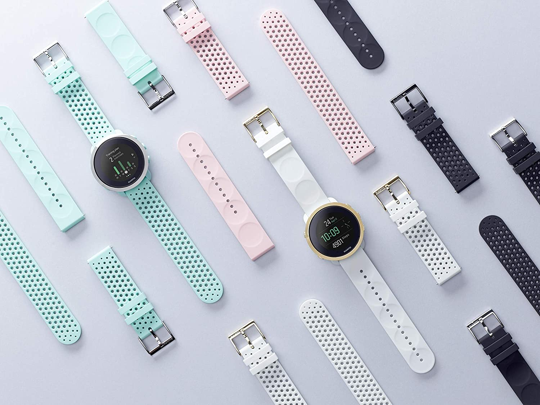 Suunto SS050216000 Correa de sustitución original para todos los relojes Suunto 3 Fitness, silicona, largo: 21,7 cm, ancho: 20 mm, incluye pasadores de ...