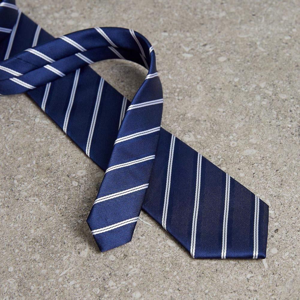 PyBle Striped Ties Gift Box Wedding Neckties Silk Tie Necktie
