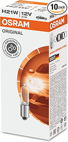 10 Stück Glühlampe  TOP-LAMP 12V 21W BA15s