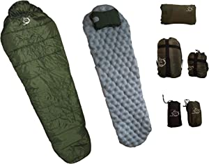 River Country Products Sleeping Bag, Sleeping Pad, Pillow Combo Set