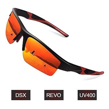 Elegear Gafas de Sol Deportivas Hombre PC 2018 Gafas de Verano Polaroid Anti Rayos UVA UV ...