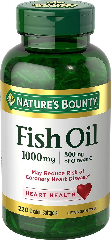 Nature's Bounty Fish Oil 1000 mg Coated Softgels 220 ea