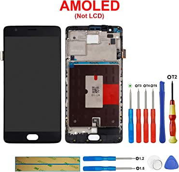 SWARK Pantalla LCD compatible con OnePlus 3 Three A3000 A3003 5.5 ...