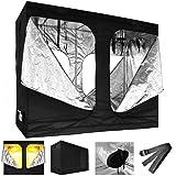 96x48x78 100% Reflective Mylar Hydroponic Grow Tent Window Indoor Non Toxic Room