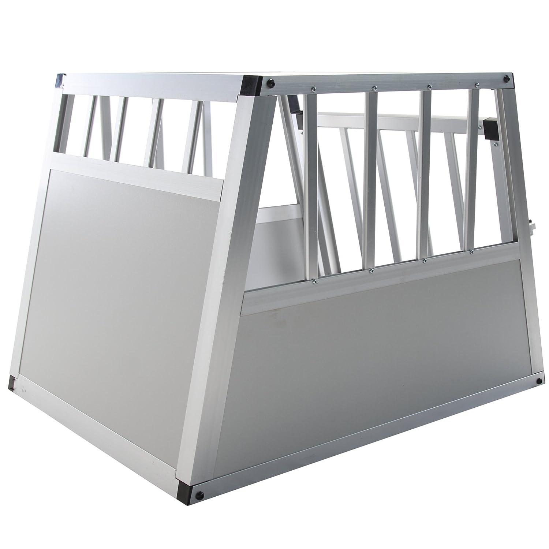 Jalano Hundetransportbox Gr/ö/ße S Auto Gitterbox Hunde Alu Hundebox Kofferraum