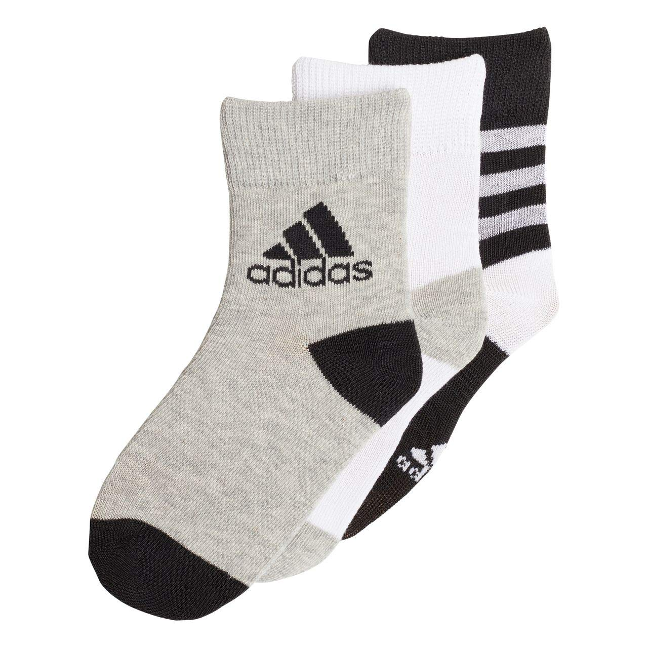 806516c4b4 Adidas Kids Training Ankle Socks 3 Pairs Lifestyle Infant DJ2266 ...
