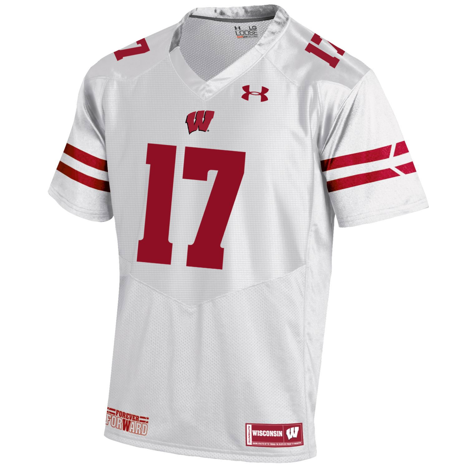 Under Armour Wisconsin Badgers HG weiß on-Field Sideline Fußball Jersey