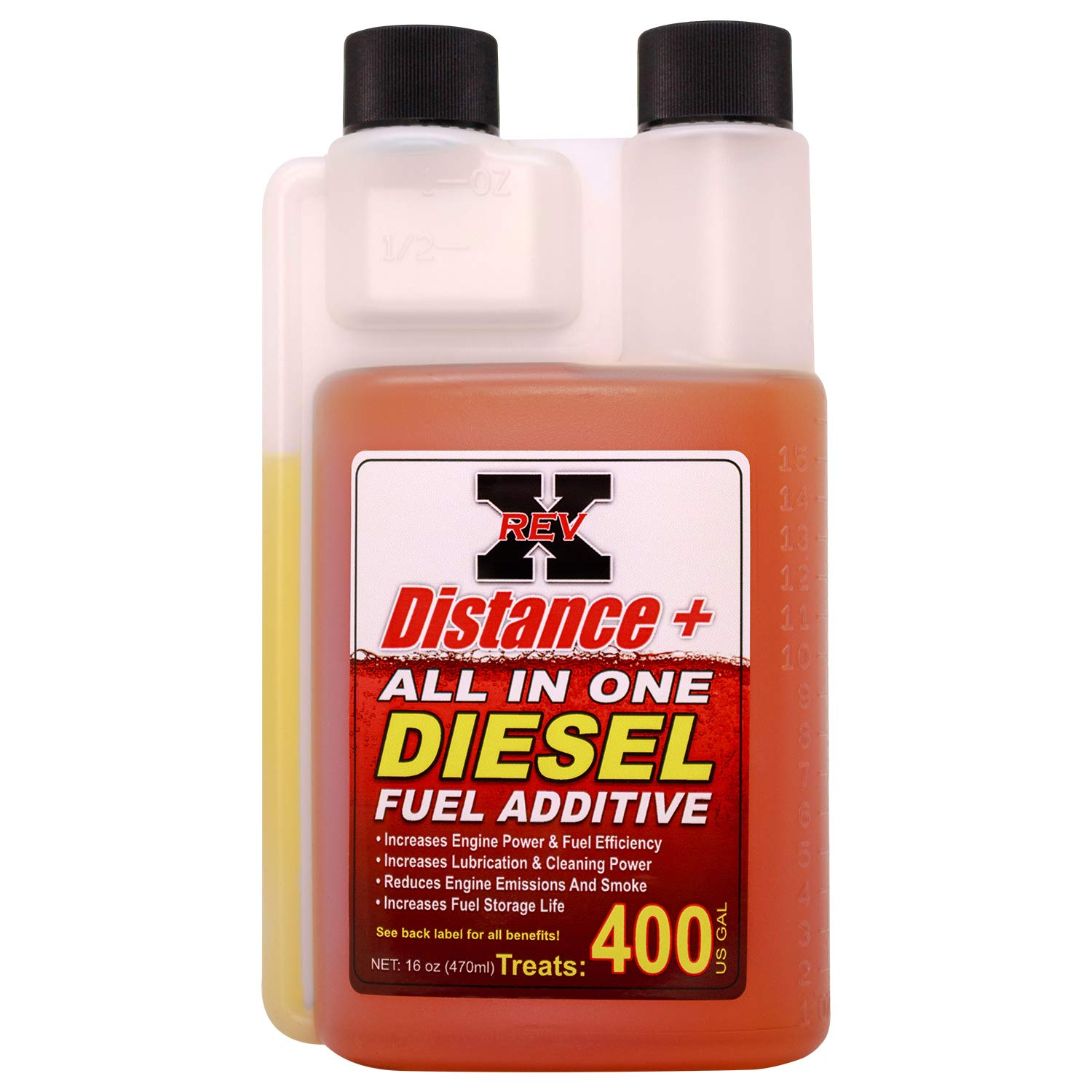 REV X Distance + Diesel Fuel Additive - 16 oz. Treats 400 Gallons by REV-X