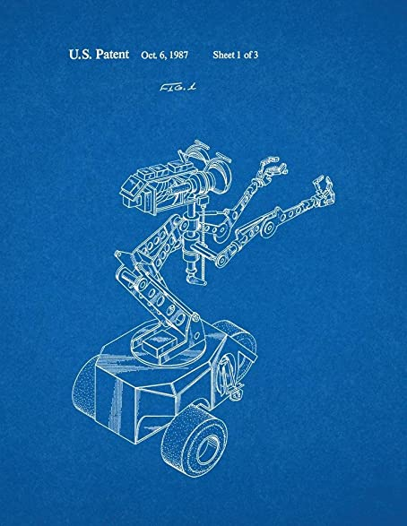 Amazon.com: Short Circuit Movie Number 5 Robot Patent Print Art ...