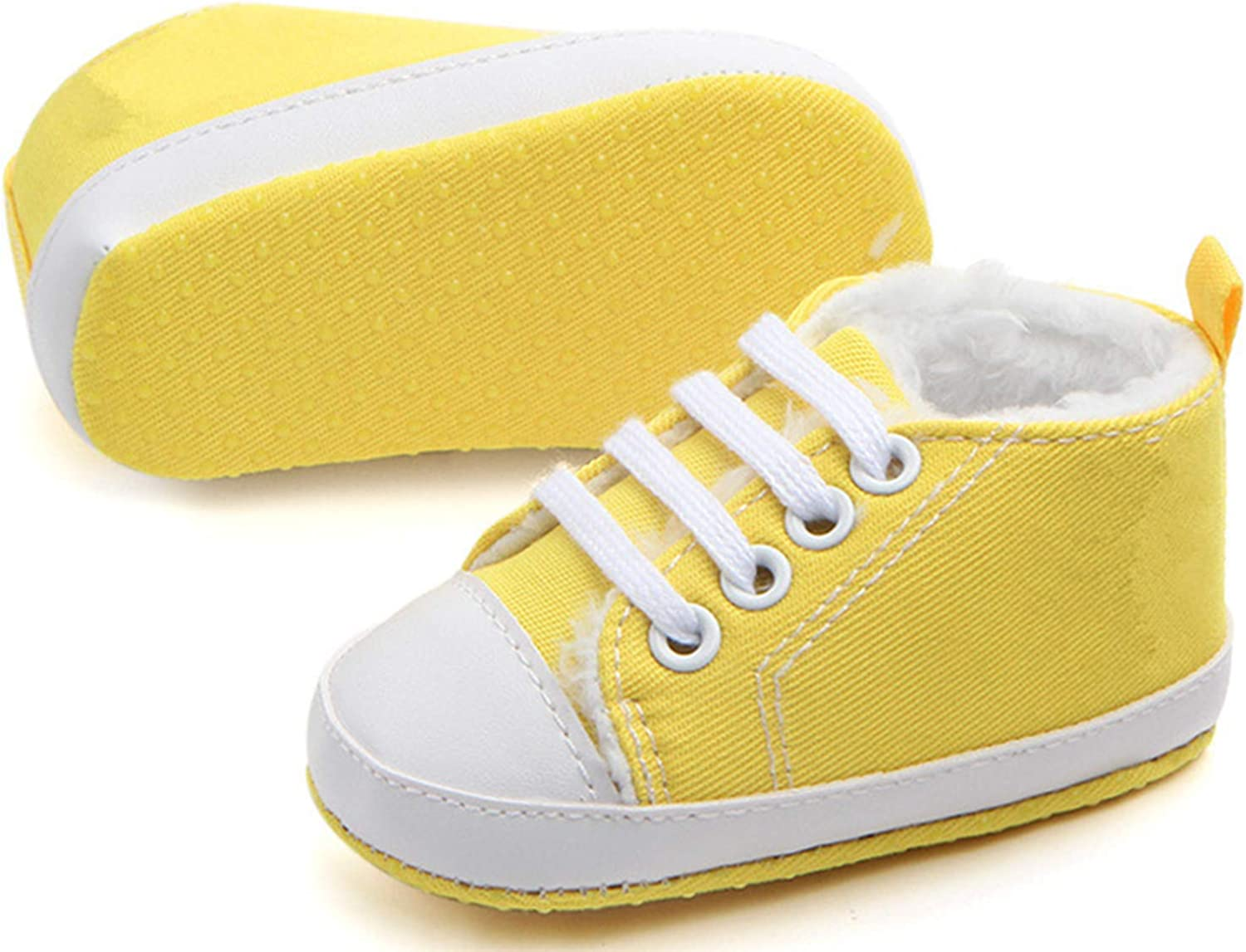 Newborn Infant Baby Girls Canvas Soft Sole Anti-Slip Sneakers Cute Cloth Shoes
