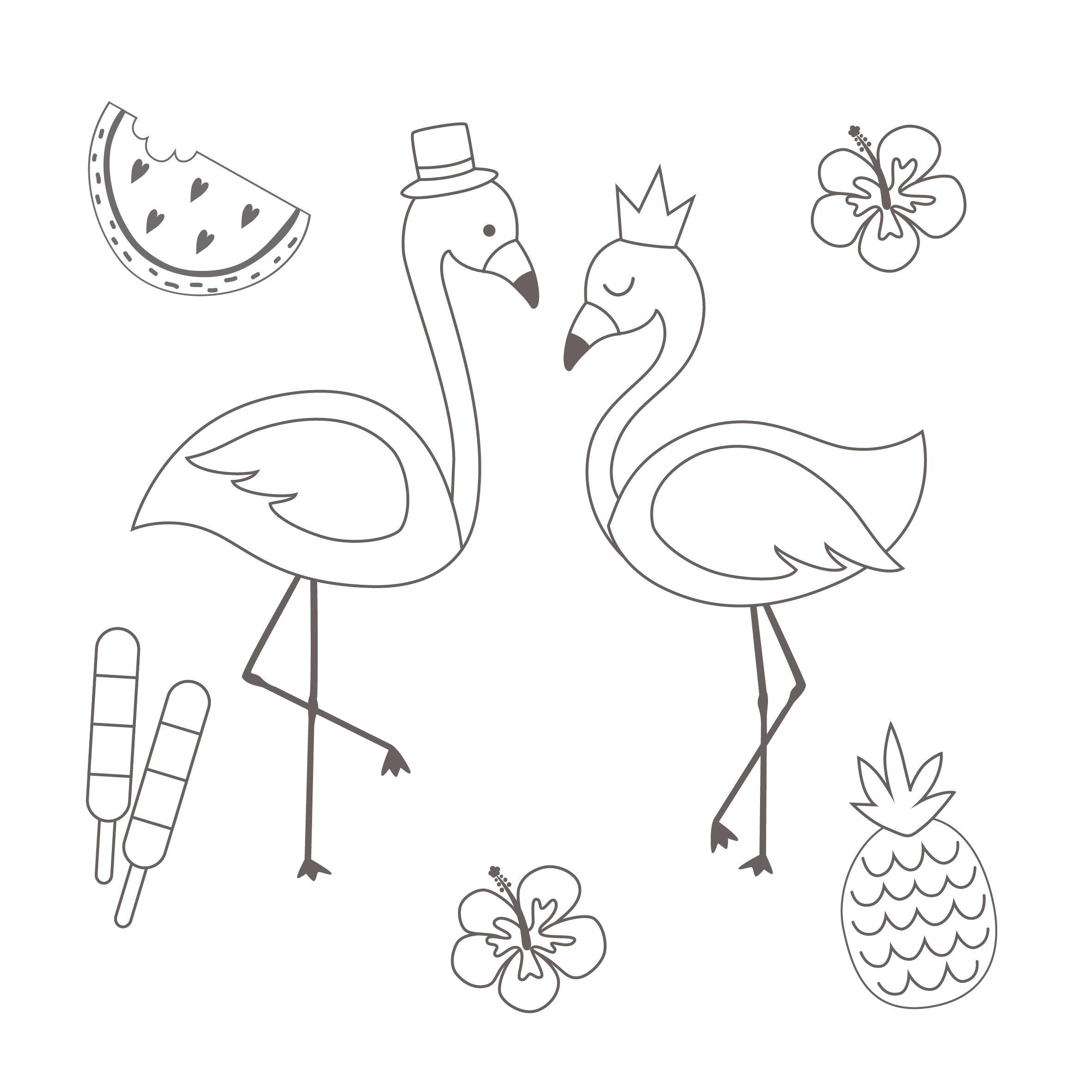 Das Flamingo-Malbuch: 28 Motive zum Ausmalen und Dekorieren – Mit