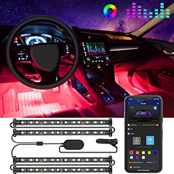 36 Mood Footwell Dimmable Ambient Interior 12V LED Strip Lights Car Interior