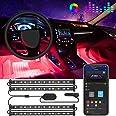 Govee Interior Car Lights, LED Car Strip Lights with 2 Lines Waterproof Design, 48 LEDs App Control Car Light Kit, DIY Mode a