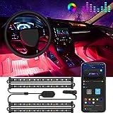 Govee Interior Car Lights, LED Car Strip Lights with Two-Line Waterproof Design, 48 LEDs App Control Car Light Kit, DIY Mode