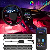 Govee Car LED Lights, Interior Car Lights Upgrade Two-Line Design, APP & Box Control, Music Sync, RGB LED Lights for Car…