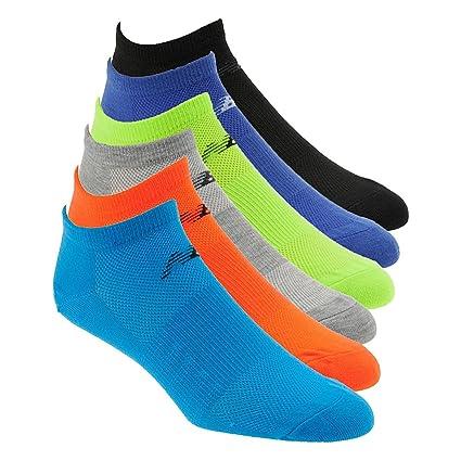 c57333bc50712 Amazon.com: New Balance Lifestyle No Show Socks (6 Pair), Multicolor ...