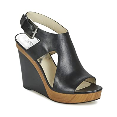 ea0be318775c8 Michael Kors Womens Josephine Wedge Leather Open Toe Casual
