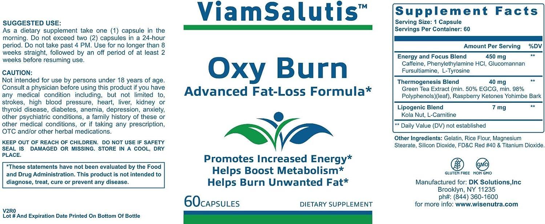 Amazon Com Viamsalutis Oxy Burn Health Personal Care