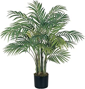 Nearly Natural 5000 Areca Decorative Silk Palm Tree, 3-Feet, Green