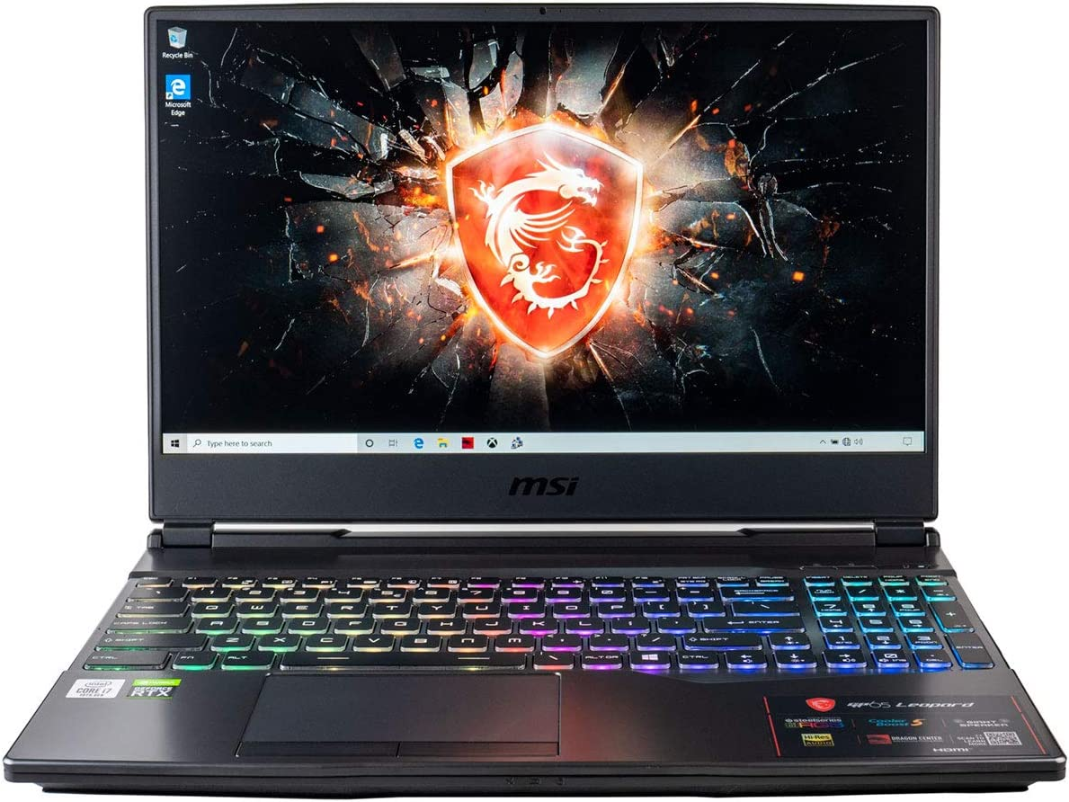 "CUK MSI GP65 Leopard Gaming Laptop (Intel Core i7-10750H, 16GB RAM, 512GB NVMe SSD, NVIDIA GeForce RTX 2070, 15.6"" Full HD 144Hz 3ms, Windows 10 Home) Gamer Notebook Computer"