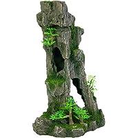 Trixie 8857 Acuario Decoración Rock Formation con Cuevas/plantas vertical 28 cm