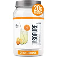 """ISOPURE INFUSIONS, Refreshingly Light Fruit Flavored Whey Protein Isolate Powder, """"Shake Vigorously & Infuses in a…"""