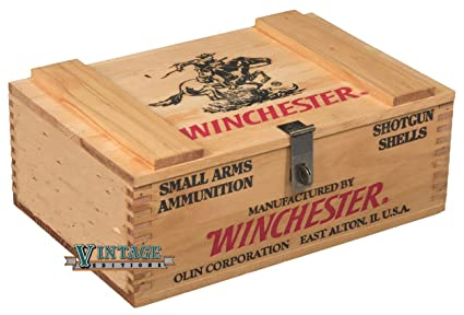 amazon com winchester wooden 250 shell ammo box home kitchen