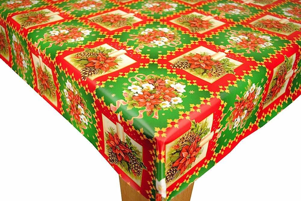 Classic Christmas PVC Vinyl Oilcloth Tablecloth 200cm x 140cm