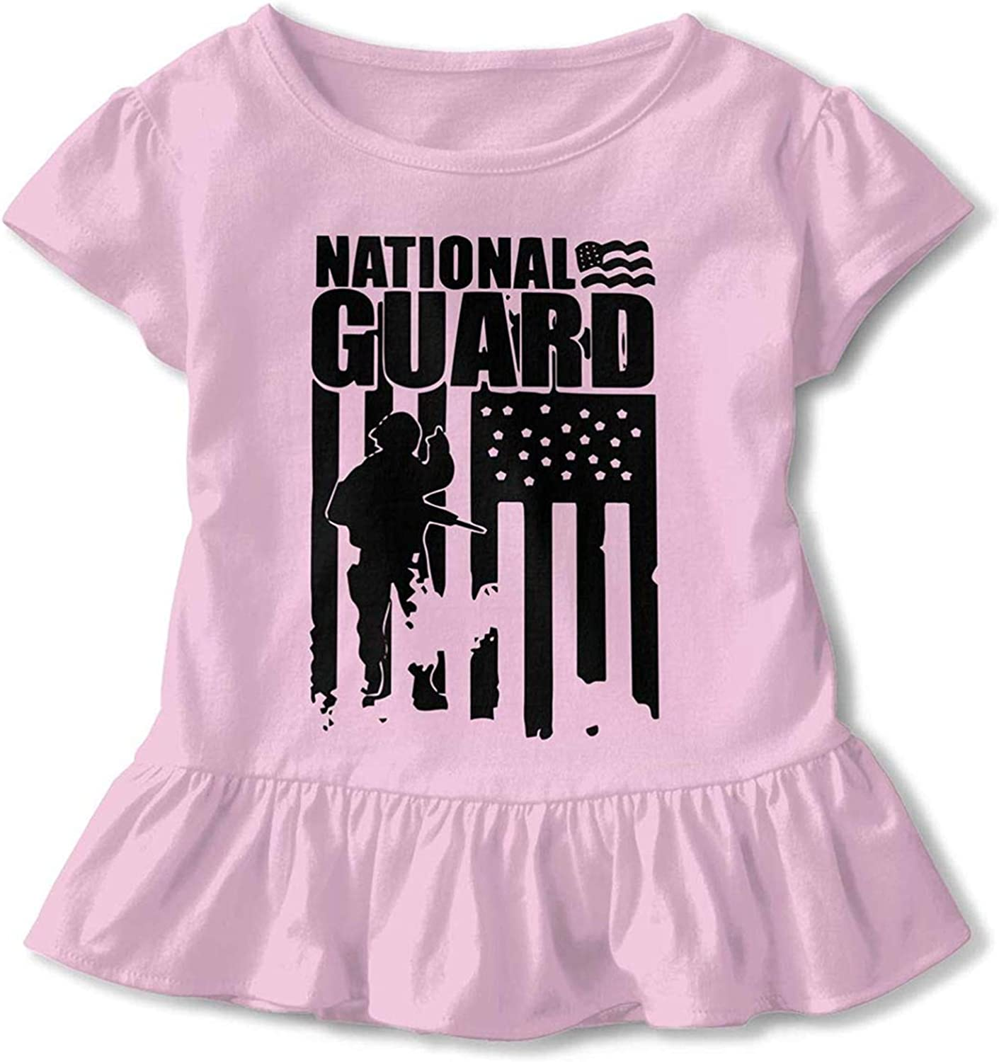 National Guard Patriotic Army American Flag 2-6 Years Old Children Short-Sleeved T-Shirt