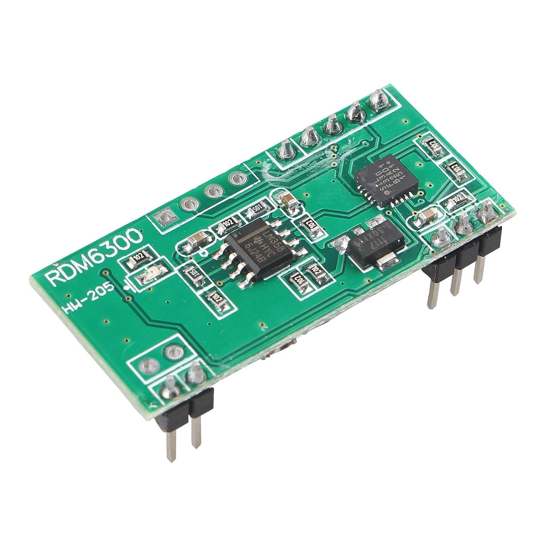 HALJIA RDM6300 125Khz EM4100 M/ódulo de lector de tarjeta RFID UART RF UART Output Compatible con Arduino