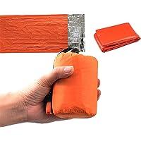 Emergency Sleeping Bag Poncho-Thermal Bivvy Use as Emergency Bivy Sack,Survival Sleeping Bags,Mylar Emersency Blanket…