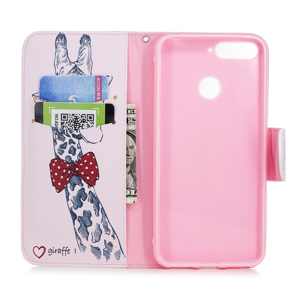 crisant Huawei Honor 7A//Y6 2018 Case Electric saws Wallet Magnetic Closure Stand Phone Flip Cover For Huawei Honor 7A//Y6 2018 With One Gift
