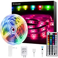 Europese Standaard LED Strips Lights 5 m (16 ft) Waterdicht 44 Key IR Afstandsbediening 5050 RGB 12 V Light Strips