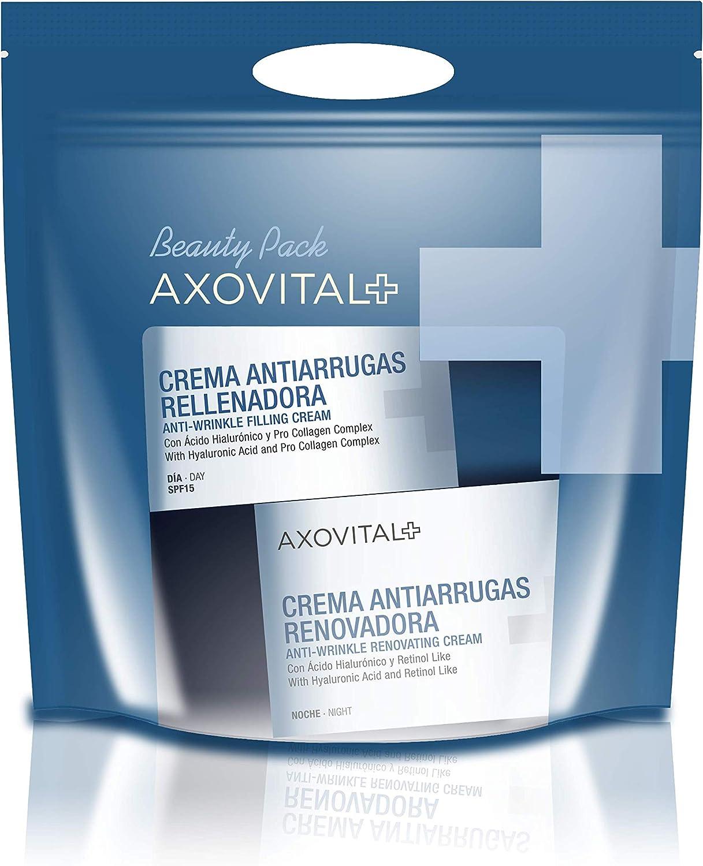 Axovital - Pack Antiarrugas Crema de Día SPF15 + Crema de Noche ...