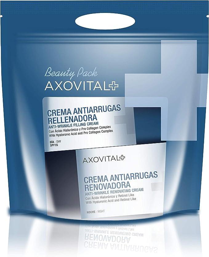Axovital - Pack Antiarrugas Crema de Día SPF15 + Crema de Noche - 2 x 50 ml: Amazon.es: Belleza